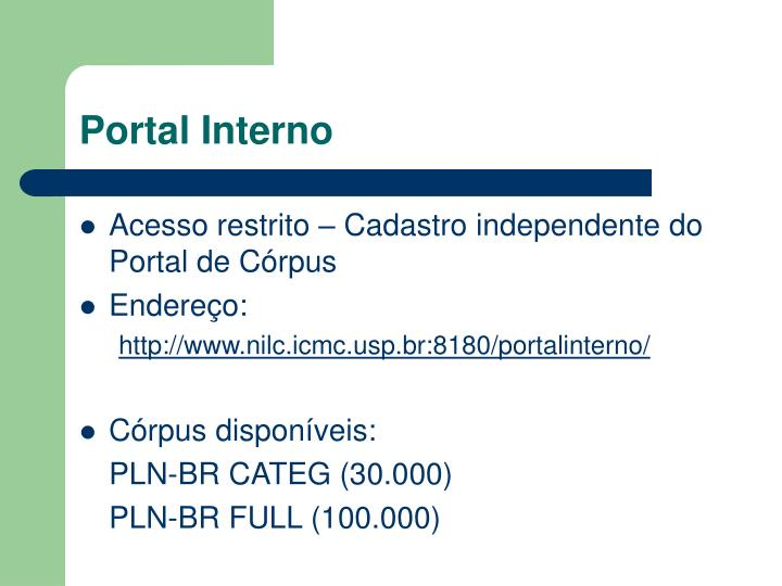 Portal Interno