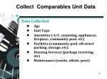 collect comparables unit data2