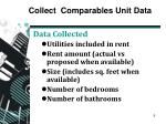 collect comparables unit data3