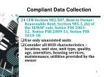 compliant data collection
