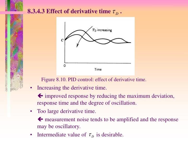 8.3.4.3 Effect of derivative time      .