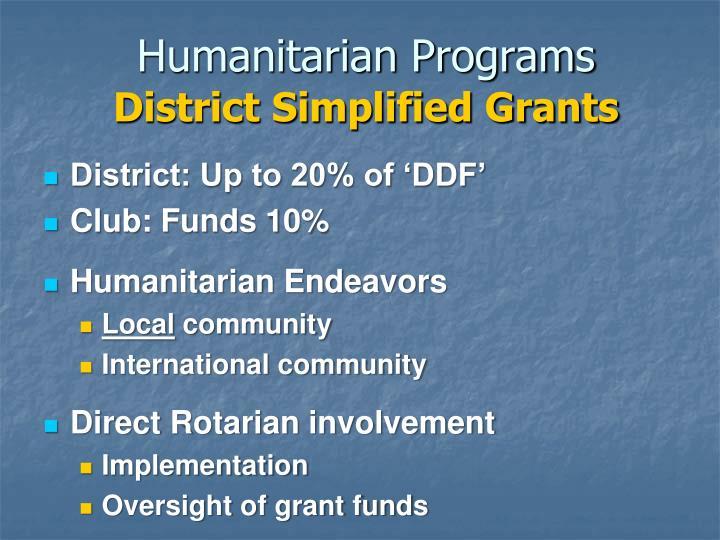 Humanitarian Programs
