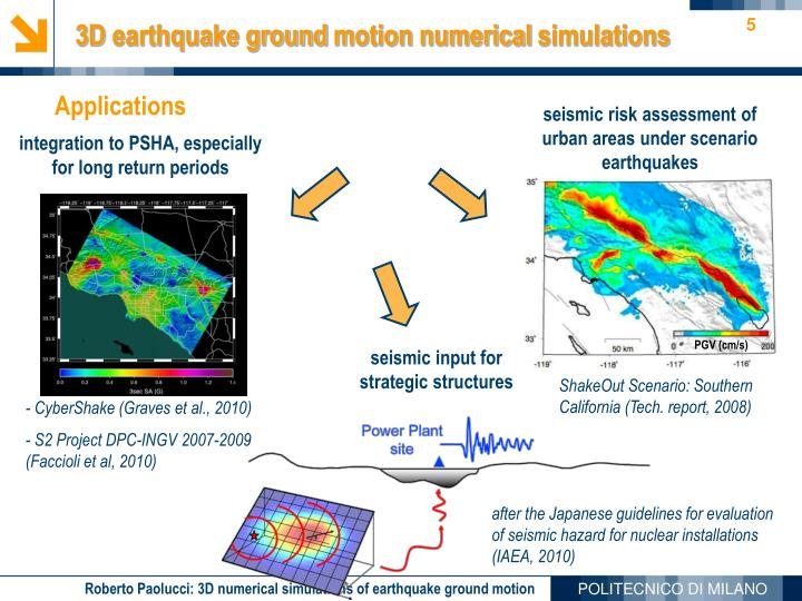 seismic input for strategic structures