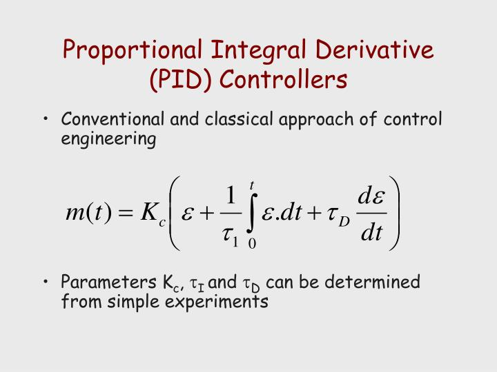 Proportional Integral Derivative (PID) Controllers
