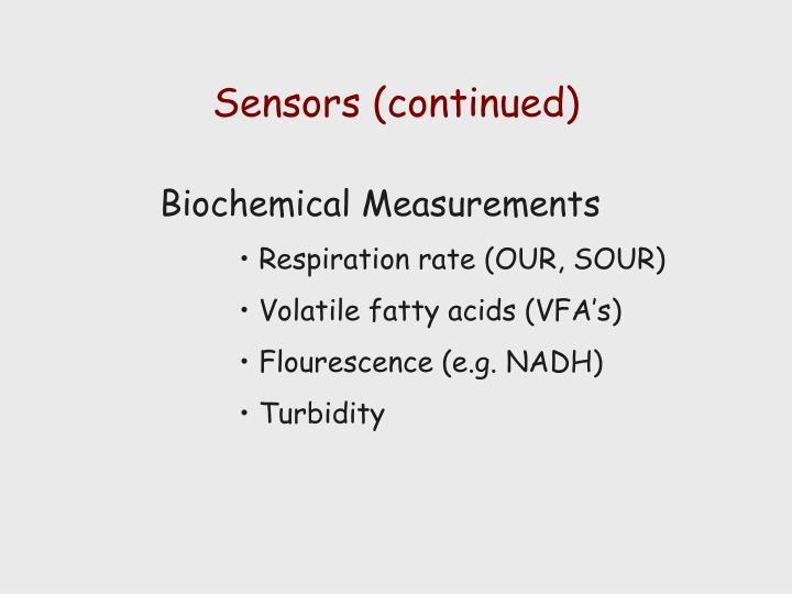 Sensors (continued)