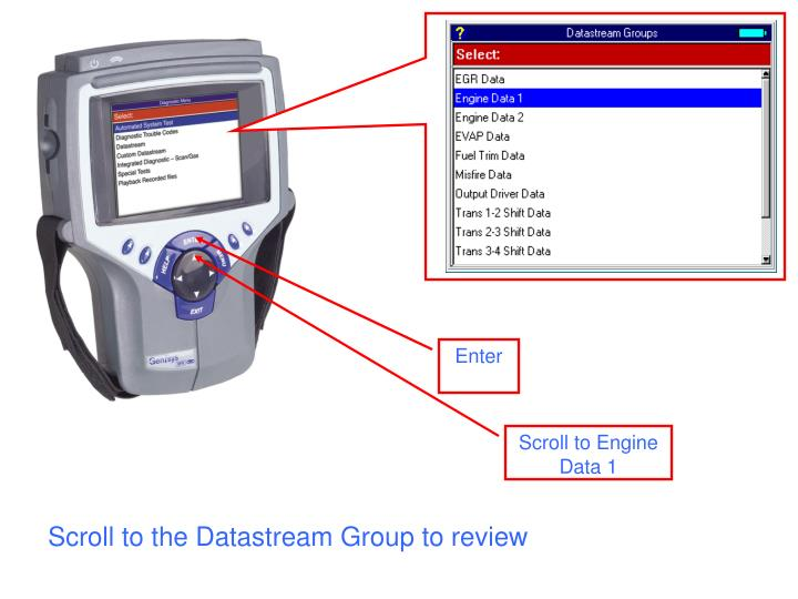 Scroll to the datastream group to review