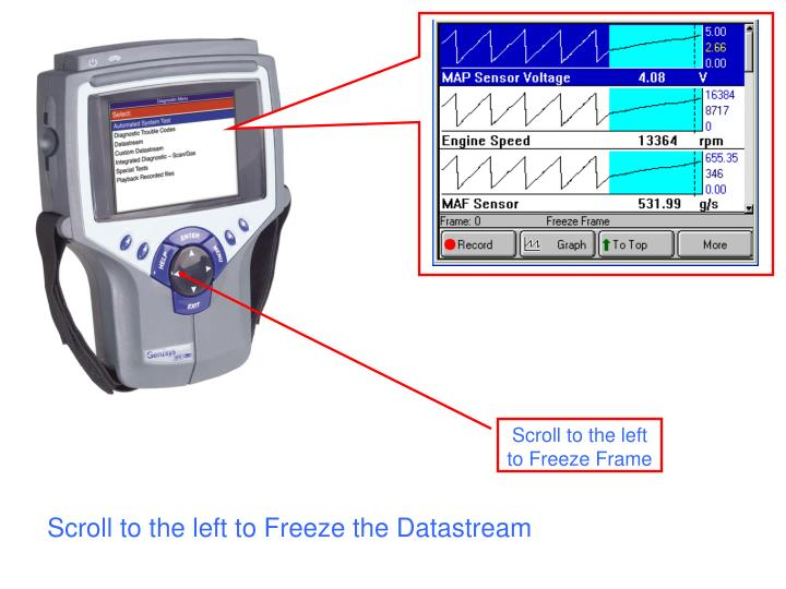Scroll to the left to Freeze the Datastream