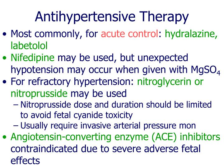 Antihypertensive Therapy