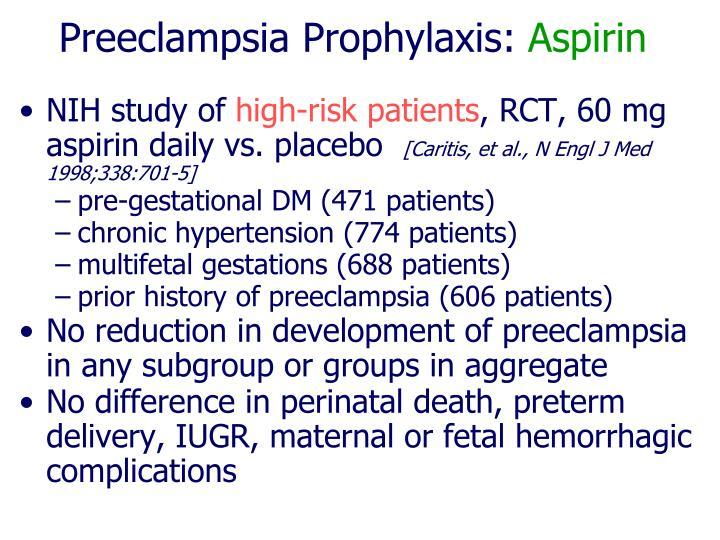Preeclampsia Prophylaxis: