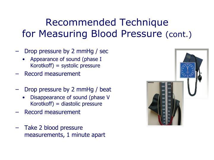 Drop pressure by 2 mmHg / sec