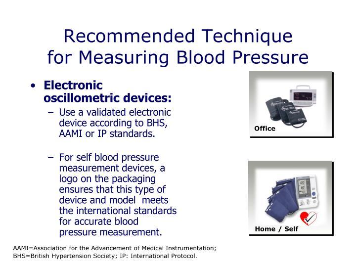 Electronic oscillometric devices: