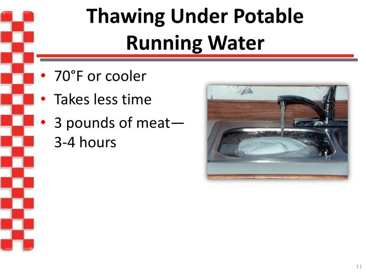 Thawing Under Potable