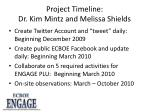 project timeline dr kim mintz and melissa shields