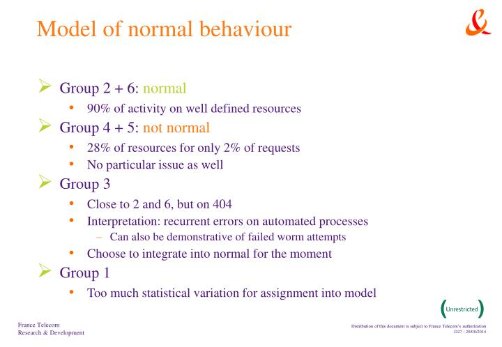 Model of normal behaviour
