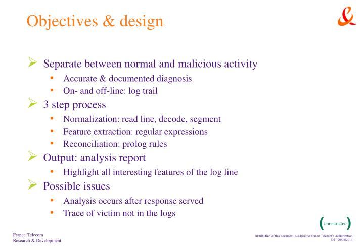 Objectives design