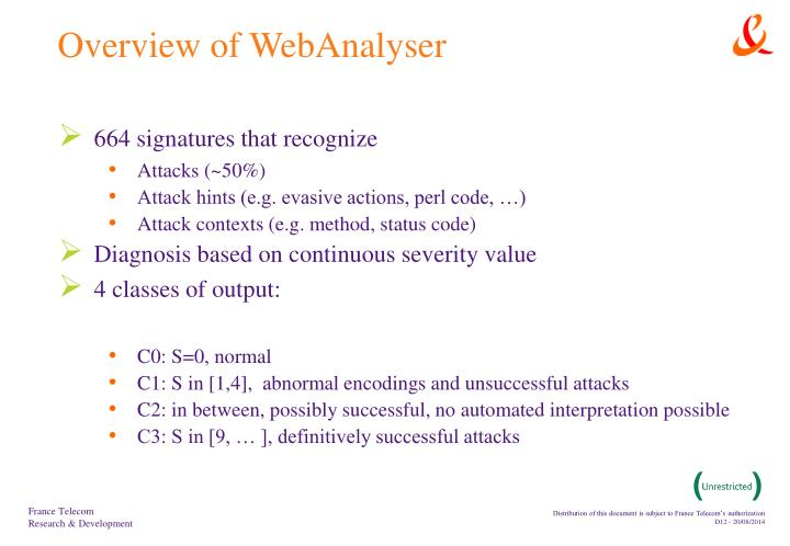 Overview of WebAnalyser