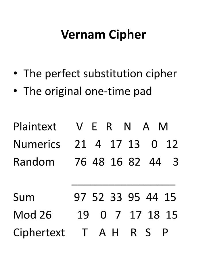 Vernam Cipher