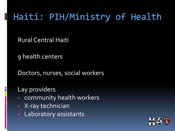 Haiti: PIH/Ministry of Health