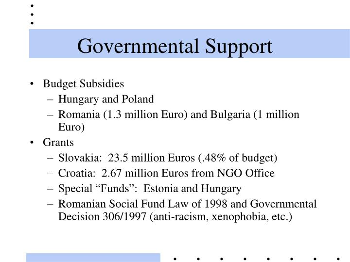 Governmental Support
