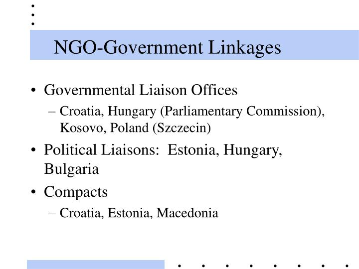 NGO-Government Linkages