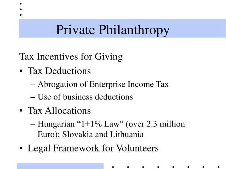 Private Philanthropy