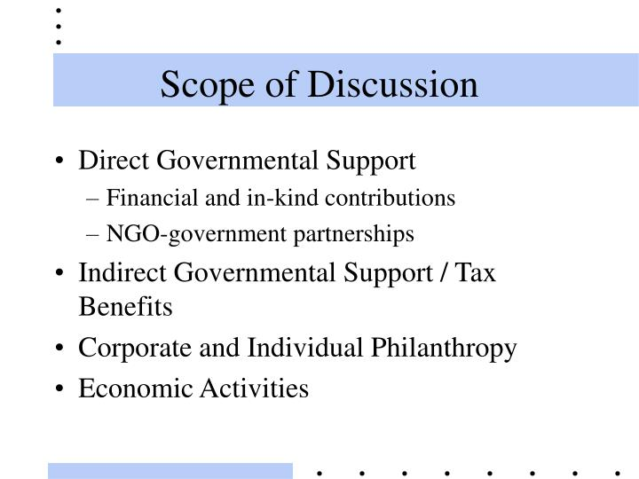 Scope of Discussion