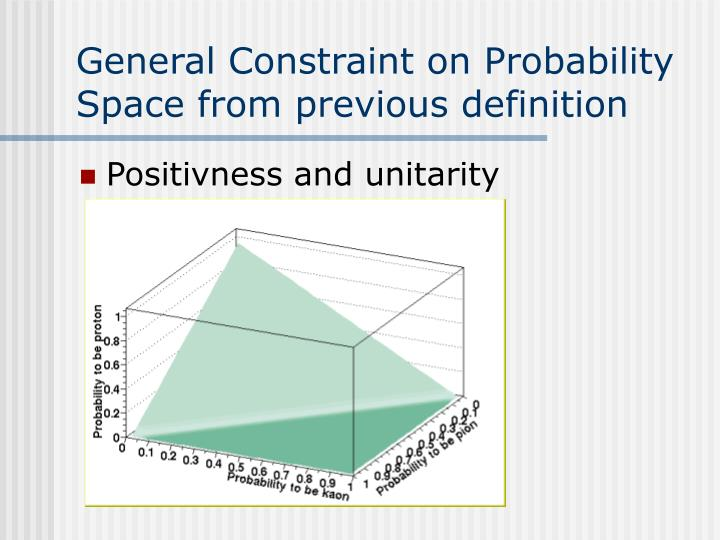 General Constraint on Probability Space from previous definition