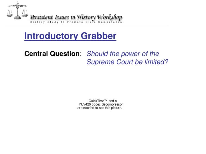 Introductory Grabber