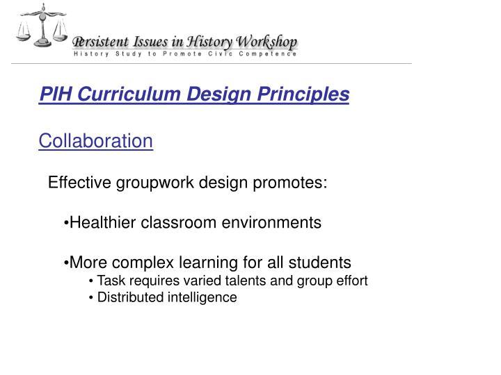 PIH Curriculum Design Principles