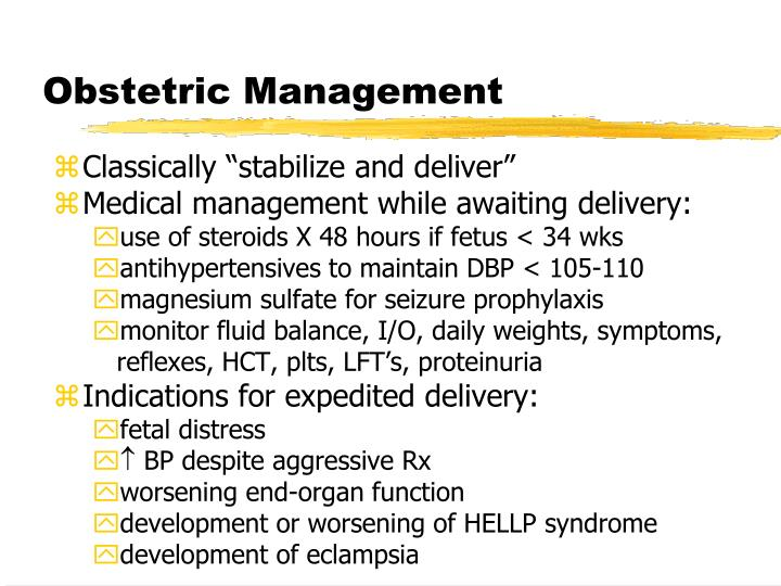 Obstetric Management