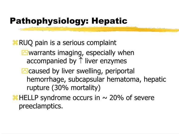 Pathophysiology: Hepatic