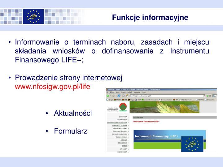 Funkcje informacyjne