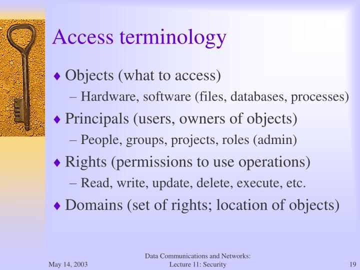 Access terminology