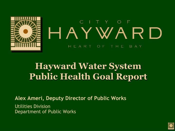 Hayward Water System