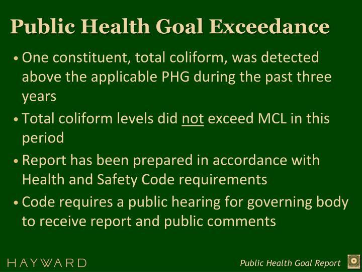 Public Health Goal