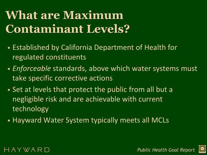What are Maximum Contaminant Levels?