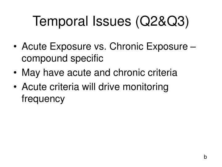 Temporal Issues (Q2&Q3)