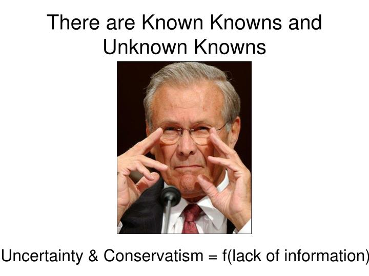 There are Known Knowns and Unknown Knowns