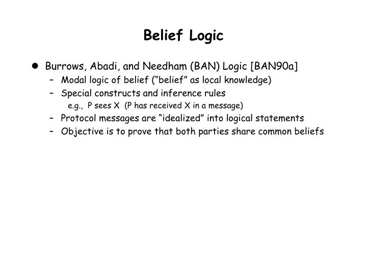 Belief Logic