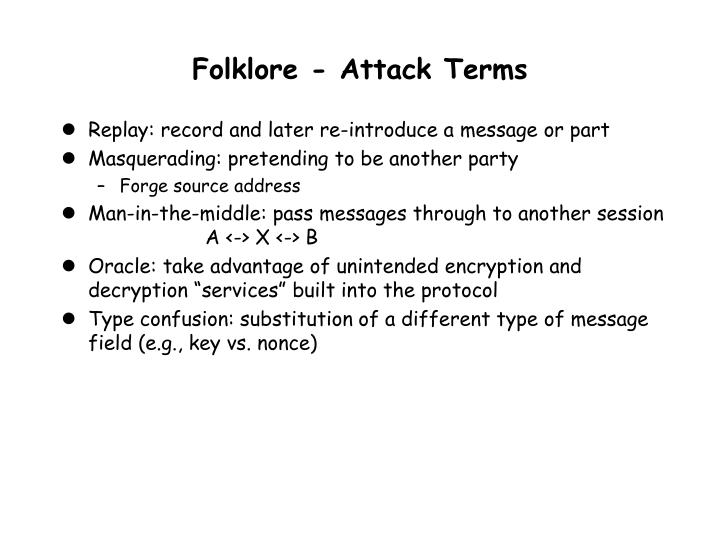 Folklore - Attack Terms