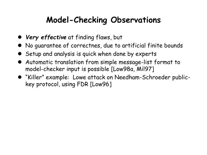 Model-Checking Observations