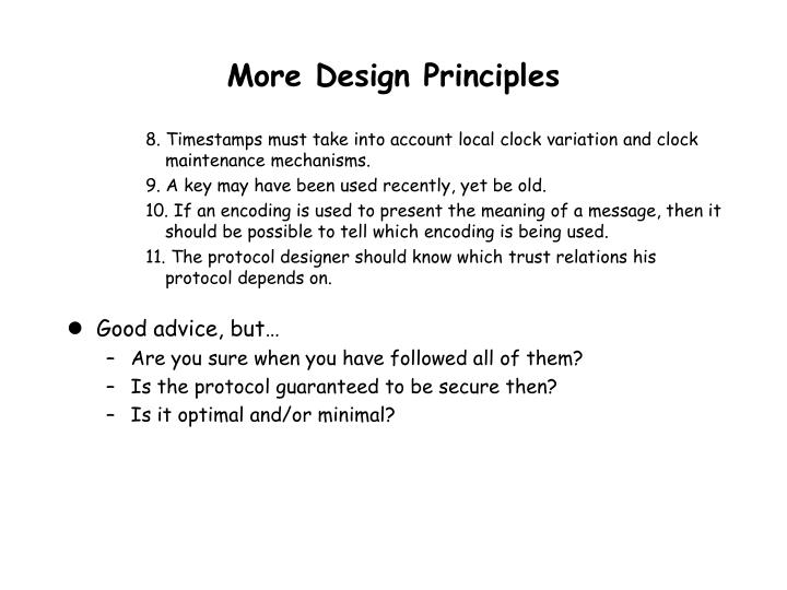 More Design Principles