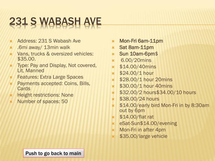 231 S Wabash Ave