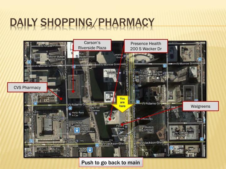 daily shopping/pharmacy