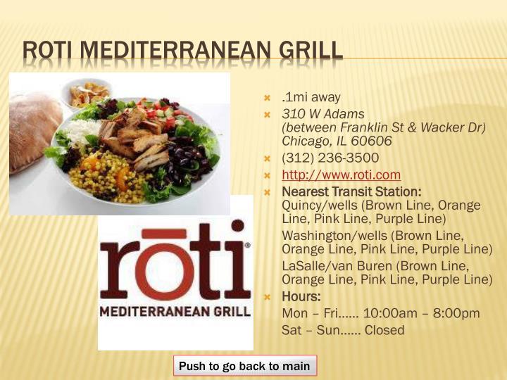 Roti Mediterranean grill