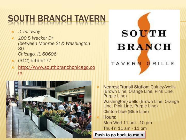 South branch tavern