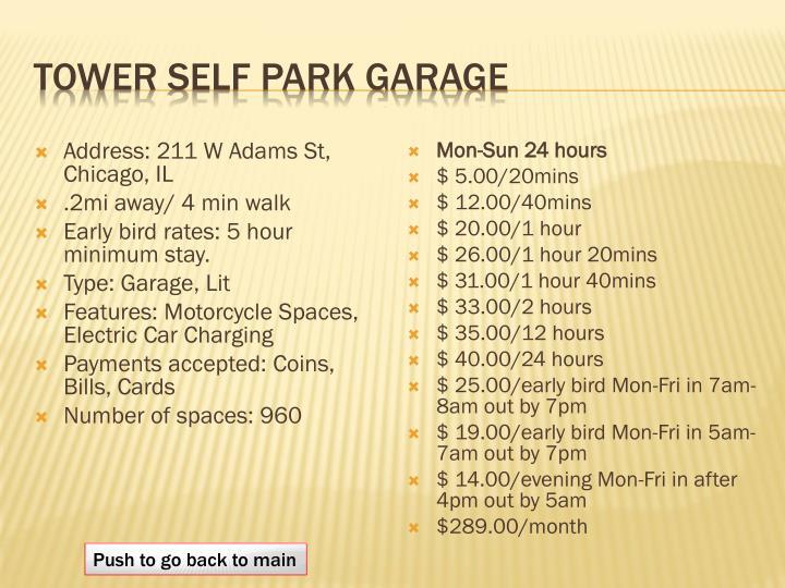 tower self park garage