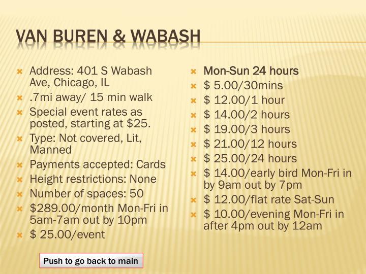 Van Buren & Wabash
