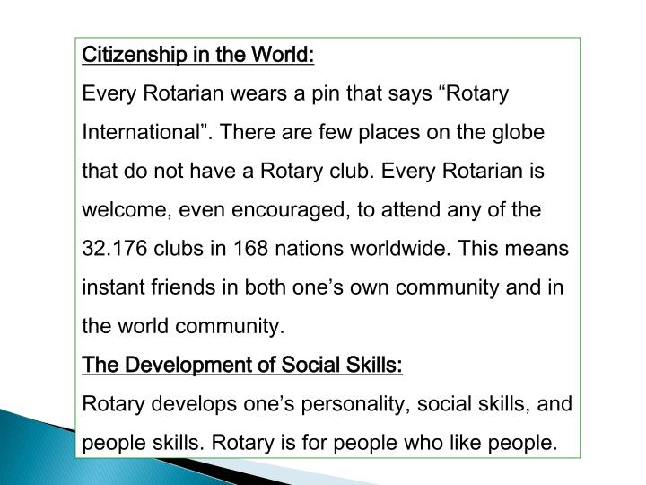 Citizenship in the World: